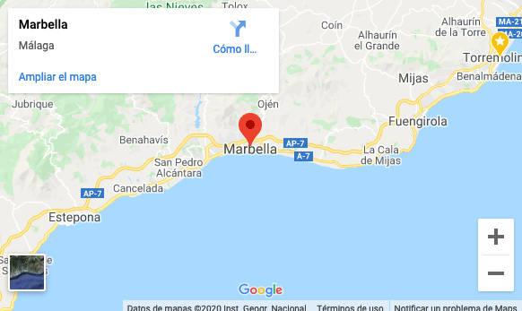 Ubicación Taxi Marbella